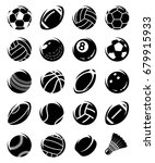 sport balls set. vector | Shutterstock .eps vector #679915933