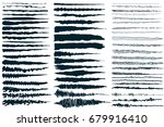 paintbrush collection  ink... | Shutterstock .eps vector #679916410