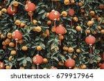 Red Lanterns On A Mandarin Tre...
