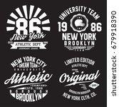 new york  brooklyn typography... | Shutterstock .eps vector #679918390