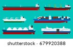 global logistics network flat... | Shutterstock . vector #679920388