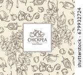 background chickpea  chickpea... | Shutterstock .eps vector #679932724