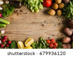 fresh farm market vegetables ... | Shutterstock . vector #679936120