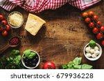 italian cuisine   italian food... | Shutterstock . vector #679936228
