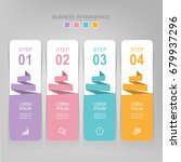 infographic template of four... | Shutterstock .eps vector #679937296