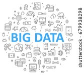 round line banner for big data. ... | Shutterstock . vector #679938298