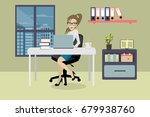 office worker in modern... | Shutterstock .eps vector #679938760