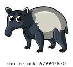 anteater on white background... | Shutterstock .eps vector #679942870