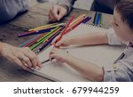 art child family drawing pencil | Shutterstock . vector #679944259