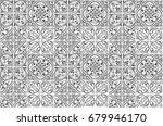 vintage ceramic tiles wall... | Shutterstock . vector #679946170