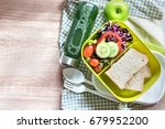 healthy lunch box with grain... | Shutterstock . vector #679952200