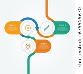 infographic element vector with ... | Shutterstock .eps vector #679959670