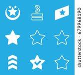 rating icons set. set of 9...
