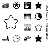 trendy icon. set of 13 filled...