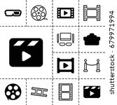 movie icon. set of 13 filled... | Shutterstock .eps vector #679971994