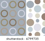 retro blue and brown circles... | Shutterstock . vector #6799735