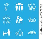 father icons set. set of 9... | Shutterstock .eps vector #679974790