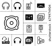 stereo icon. set of 13 filled...   Shutterstock .eps vector #679974904