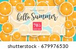 summer sale background layout... | Shutterstock .eps vector #679976530