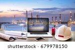 double exposure engineers... | Shutterstock . vector #679978150