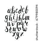 hand letterring alphabet black | Shutterstock .eps vector #679980094