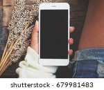 woman using smart phone | Shutterstock . vector #679981483