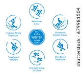 winter sports icons set  4 of 4 ...   Shutterstock .eps vector #679981504