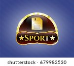 shiny emblem with diskette...   Shutterstock .eps vector #679982530