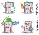 set of computer character with... | Shutterstock .eps vector #679999000