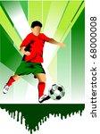 vector soccer player design  ... | Shutterstock .eps vector #68000008