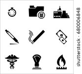 set of 9 miscellaneous icons... | Shutterstock .eps vector #680006848