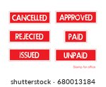 stamp design vector red | Shutterstock .eps vector #680013184