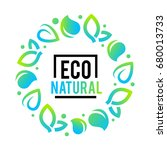 eco labels with retro vintage... | Shutterstock .eps vector #680013733