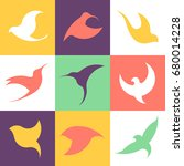 abstract bird logo design... | Shutterstock .eps vector #680014228