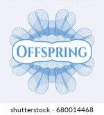 light blue rosette or money... | Shutterstock .eps vector #680014468