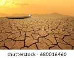 climate change child on wooden... | Shutterstock . vector #680016460