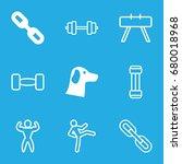 strength icons set. set of 9...   Shutterstock .eps vector #680018968