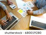 business team man and woman... | Shutterstock . vector #680019280