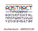 vector of modern colorful font... | Shutterstock .eps vector #680025130