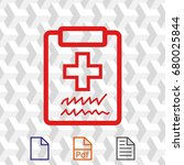 doctor with clipboard.... | Shutterstock .eps vector #680025844