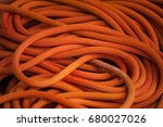 orange rope for extreme sports. ... | Shutterstock . vector #680027026