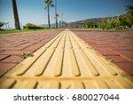 blind disabled road assistant  | Shutterstock . vector #680027044
