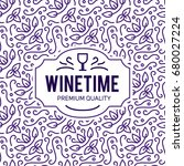 wine list design. vector... | Shutterstock .eps vector #680027224