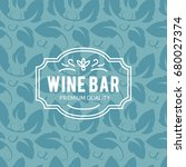 wine list design. vector... | Shutterstock .eps vector #680027374