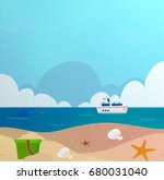 sea and sky paper texture   Shutterstock . vector #680031040