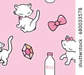 seamless pattern with cute... | Shutterstock .eps vector #680033578