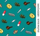drugs flat outline isometric...   Shutterstock .eps vector #680041444