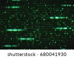 zero and one green binary... | Shutterstock . vector #680041930