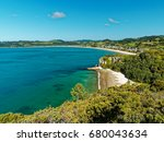 view of mercury bay and cook's... | Shutterstock . vector #680043634