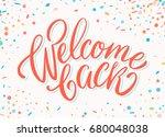 welcome back banner. | Shutterstock .eps vector #680048038